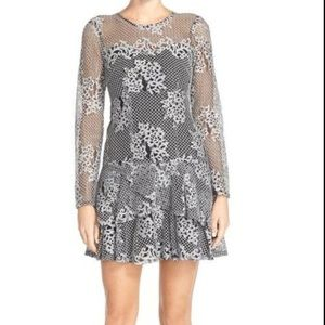 Kut From The Kloth Silver Lace Dress
